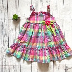 Sophie Rose Plaid Flower Dress